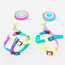 Colorful Rainbow Adjustable Nylon Pets Harness