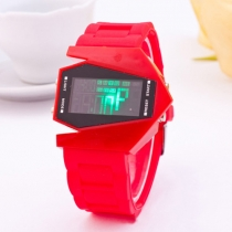 Fashion Silicone Watch Band Aircraft Shaped LED Watches