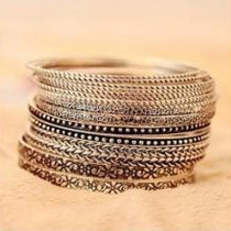 Retro Style Multilayer Alloy Bracelet