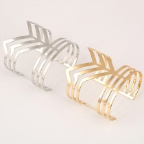 Fashion Gold/Silver-tone Hollow Out Irregular Bracelet