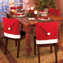 12pcs Christmas Hats Chair Covers for Table Decoration