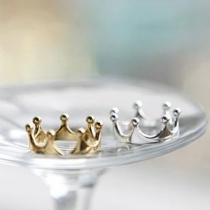 Fashion Gold/Silver-tone Crown Ring