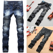 Fashion Middle-waist Men's Straight Jeans