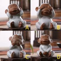 Cute Cartoon Animals Shaped Tea Pet Home Decoration