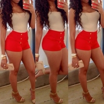 Fashion Sleeveless Round Neck High Waist Slim Fit Contrast Color Rompers