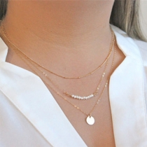 Fashion Pearl Pendant Multilayer Necklace