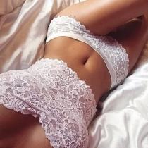 Sexy Lace Bandeau Tops + Lace Briefs Sexy Lingerie Set