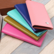 Fresh Style Solid Color Long Wallet