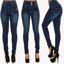 Fashion High Waist Slim Fit Stretch Jeans
