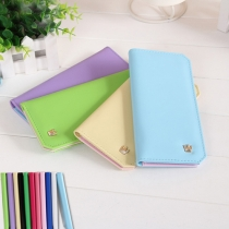 Fashion Candy Color Long Wallet for Women
