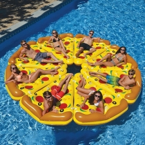 Creative Swimming Pool Inflatable Pizza Air Bed
