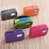 Practical Style Solid Color Storage Bag with Wrist Band
