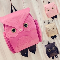 Fashion Owl Printed Hasp Backpack For Women