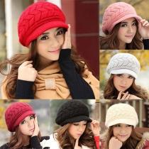 Elegant Solid Color Women's Knitted Hat