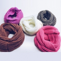 Concise Style Solid Color Warm Scarf