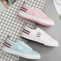 Casual Style Round Toe Flat Heel Lace Up Skate Shoes Sneakers