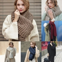 Fashion Solid Color Warm Knit Scarf