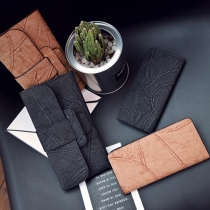 Retro Style Embossed Printed Long Wallet for Women