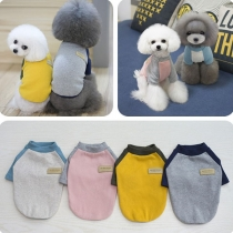 Fashion Contrast Color T-shirt for Pets