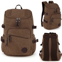 Fashion Solid Color Big Capacity Outdoor Traveling Canvas Backpack