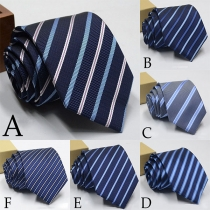 Fashion Contrast Color Striped Men's Tie