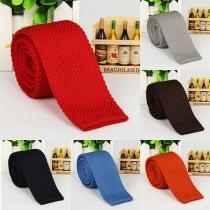 Fashion Solid Color Men's Knit Tie