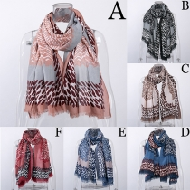 Fashion Multiple Colors Printed Scarf