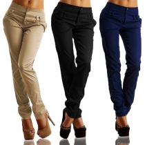 Fashion Solid Color Low-waist Casual Pants