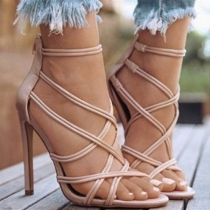 Sexy High Heel Open Toe Crossover Hollow Out Sandals