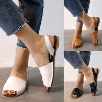 Fashion Flat Heel Peep Toe Sandals