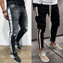 Fashion Low Waist Side Stripe Men's Pencil Pants
