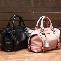 Retro Classical Pure Color Handbag