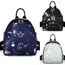 Fashion Starry-sky Printed Multifunctional Mini Backpack