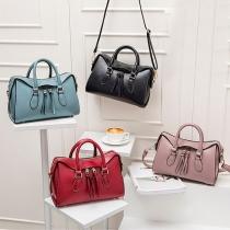 Fashion Solid Color Handbag Shoulder Messenger Bag