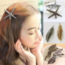 Retro Style Starfish/Leaf Shaped Hairpin