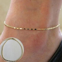 Simple Style Gold/Silver Tone Anklet