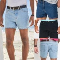 Fashion Middle Waist Man's Denim Shorts