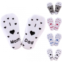 Cute Heart Printed Anti-slip Socks for Babies 2 pairs/Set