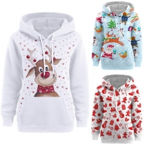 Cute Cartoon Printed Long Sleeve Thin Hoodie