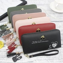 Fashion Cherry Pattern Multifunctional Wallet Clutch