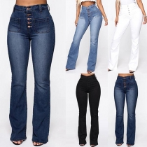 Fashion High Waist Slim Fit Jeans