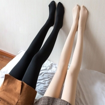 Fashion High Waist Plush Lining Stretch Stockings Pantyhose