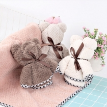Hot Sale Plaid Spliced Absorbent Towel
