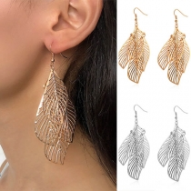 Bohemian Style Hollow Out Leaf Shaped Earrings