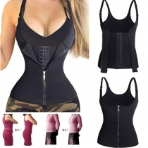 Fashion Solid Color Three-breasted Shapewear Corset