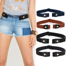 Simple Style Solid Color Elastic Waistband
