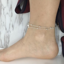Fashion Pearl Pendant Double-layer Anklet