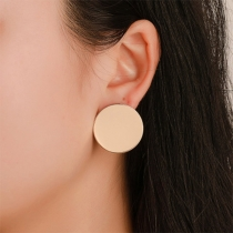 Simple Style Circle Shaped Stud Earrings