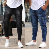 Fashion Side-pocket Man's Jeans