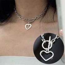 Hip-hop Style Heart Pendant Necklace